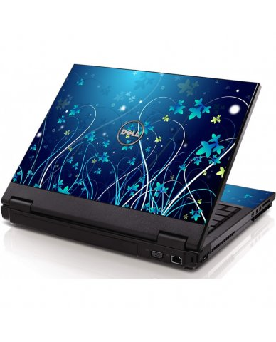 Blue Flowers Dell 1320 Laptop Skin
