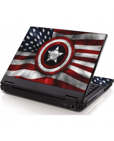 Capt America Flag Dell 1320 Laptop Skin