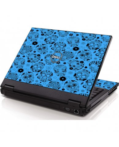 Crazy Blue Sugar Skulls Dell 1320 Laptop Skin