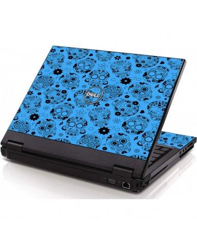 Crazy Blue Sugar Skulls Dell 1320 Laptop Skin
