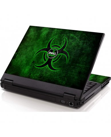 Green Biohazard Dell 1320 Laptop Skin