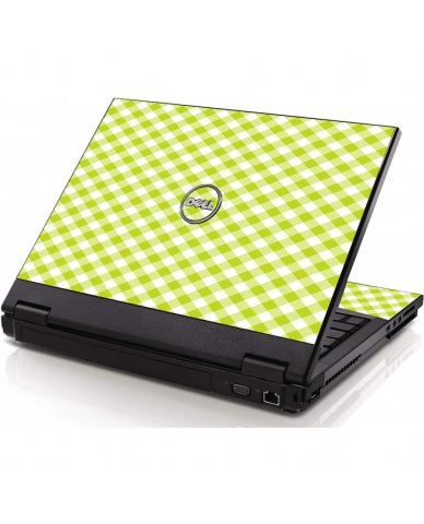 Green Checkered Dell 1320 Laptop Skin