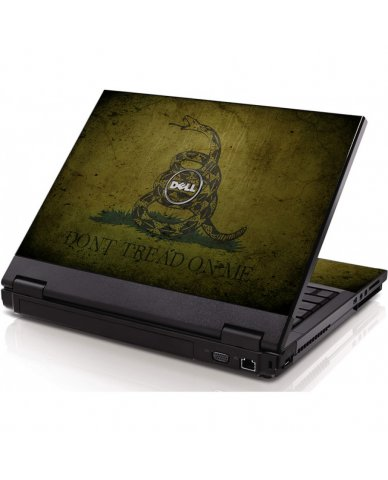 Green Don't Tread On Me Dell 1320 Laptop Skin