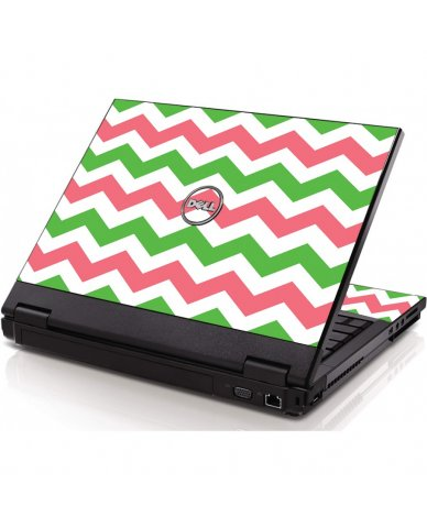Green Pink Chevron Dell 1320 Laptop Skin