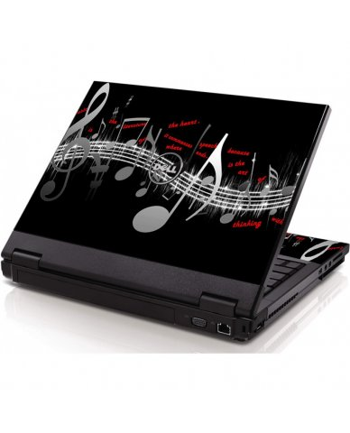 Music Notes Dell 1320 Laptop Skin