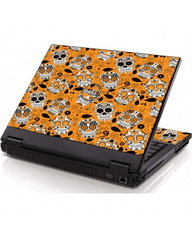 Orange Sugar Skulls Dell 1320 Laptop Skin