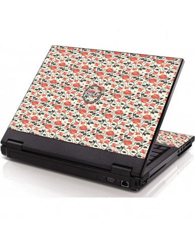 Pink Black Roses Dell 1320 Laptop Skin