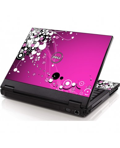 Pink Flowers Dell 1320 Laptop  Skin