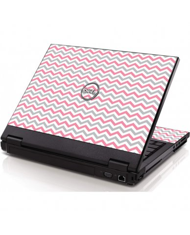 Pink Grey Chevron Waves Dell 1320 Laptop Skin