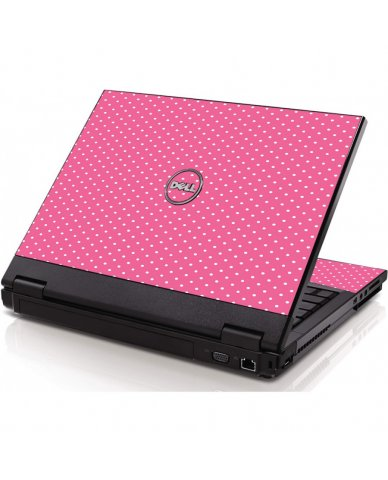Pink Polka Dot Dell 1320 Laptop Skin