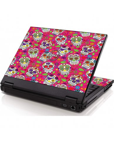 Pink Sugar Skulls Dell 1320 Laptop Skin