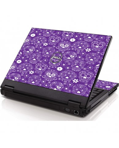 Purple Sugar Skulls Dell 1320 Laptop Skin