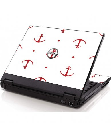 Red Anchors Dell 1320 Laptop Skin
