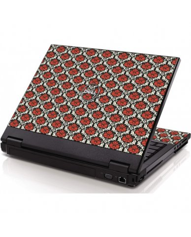 Red Black 5 Dell 1320 Laptop Skin