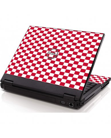 Red Checkered Dell 1320 Laptop Skin