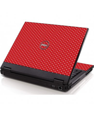 Red Polka Dot Dell 1320 Laptop Skin