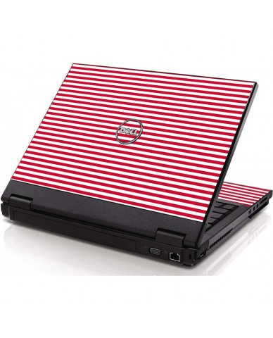 Red Stripes Dell 1320 Laptop Skin