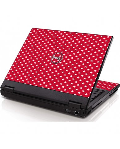 Red White Stars Dell 1320 Laptop Skin