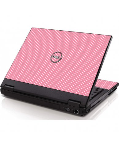 Retro Salmon Polka Dell 1320 Laptop Skin