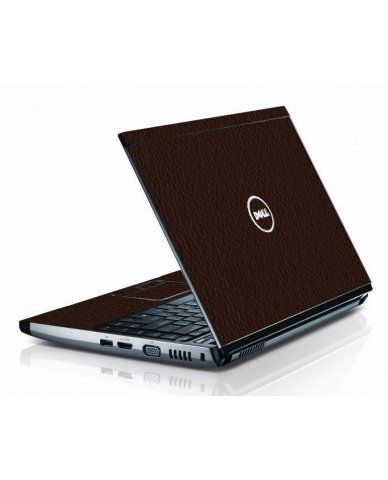 Brown Leather Dell 3300 Laptop Skin