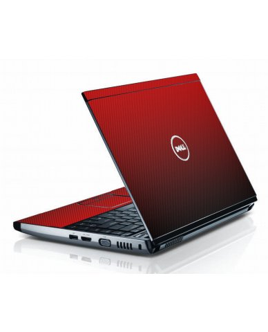 Red Carbon Fiber Dell 3300 Laptop Skin