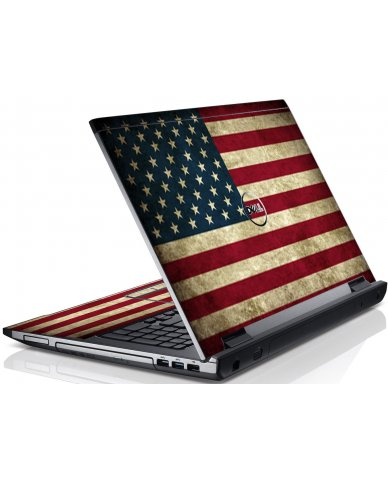 American Flag Dell V3550 Laptop Skin