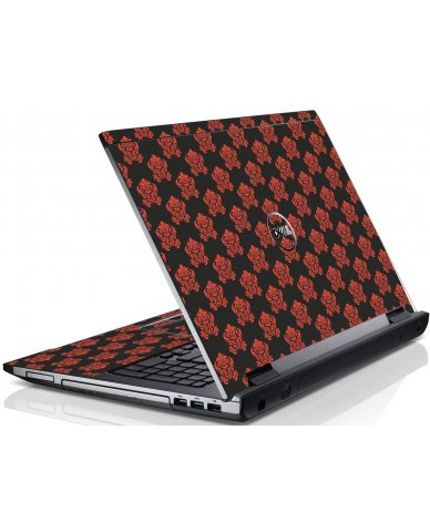 Black Flower Burst Dell V3550 Laptop Skin