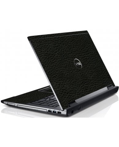 Black Leather Dell V3550 Laptop Skin