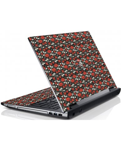 Black Red Roses Dell V3550 Laptop Skin
