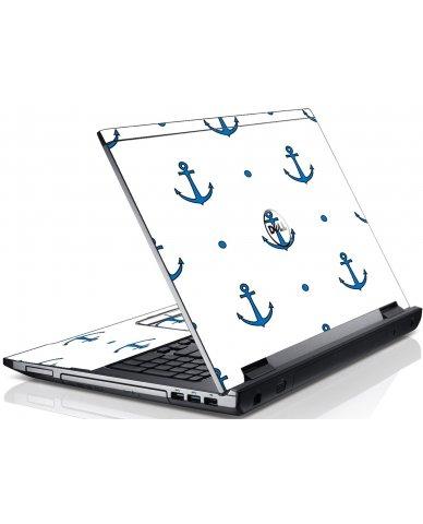 Blue Anchors Dell V3550 Laptop Skin