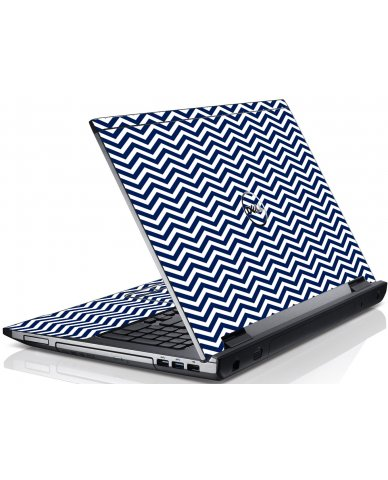 Blue Wavy Chevron Dell V3550 Laptop Skin