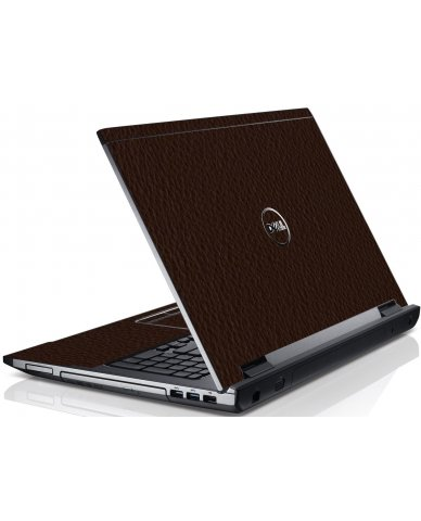 Brown Leather Dell V3550 Laptop Skin