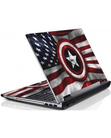 Capt America Flag Dell V3550 Laptop Skin