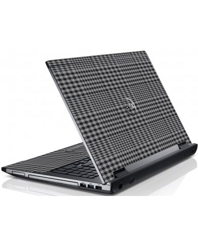Darkest Grey Plaid Dell V3550 Laptop Skin