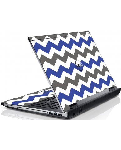 Grey Blue Chevron Dell V3550 Laptop Skin
