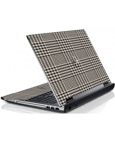 Grey Plaid Dell V3550 Laptop Skin