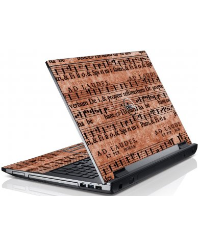 Latin Sheet Music Dell V3550 Laptop Skin