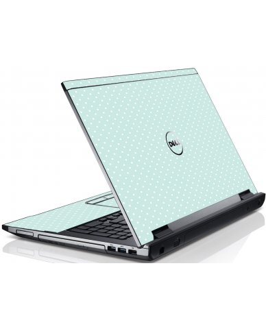 Light Blue Polka Dell V3550 Laptop Skin
