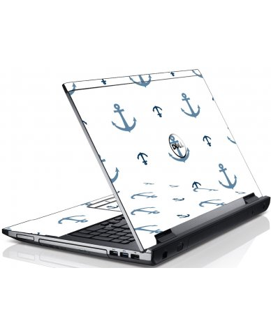 Multi Blue Anchors Dell V3550 Laptop Skin