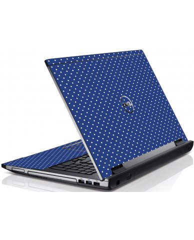 Navy Polka Dot Dell V3550 Laptop Skin