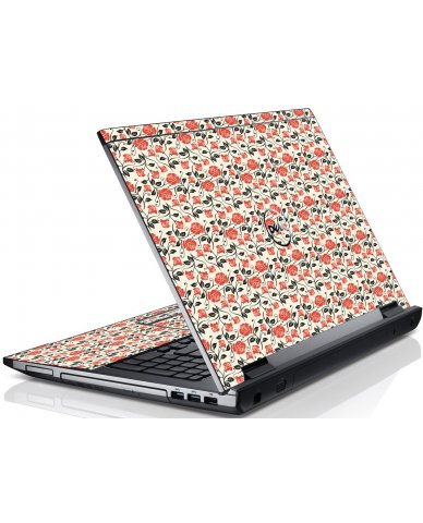 Pink Black Roses Dell V3550 Laptop Skin