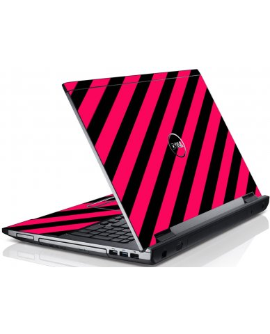Pink Black Stripes Dell V3550 Laptop Skin