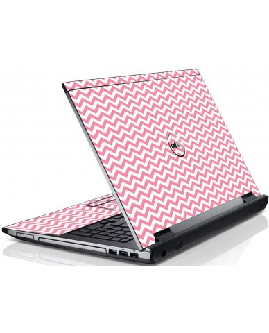 Pink Chevron Waves Dell V3550 Laptop Skin