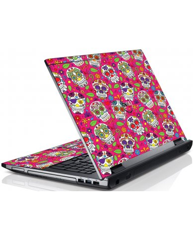 Pink Sugar Skulls Dell V3550 Laptop Skin