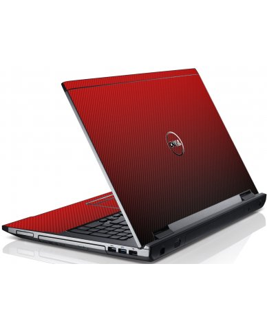 Red Carbon Fiber Dell V3550 Laptop Skin