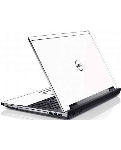 White Dell V3550 Laptop Skin