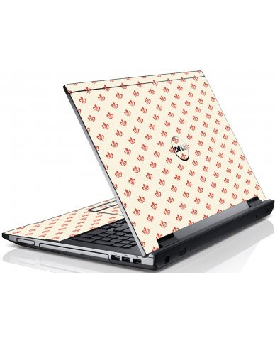 White And Pink Versailles Dell V3550 Laptop Skin