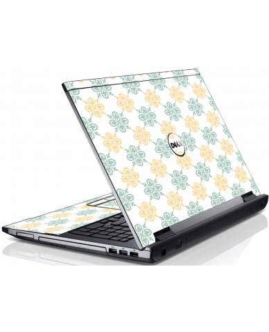 Yellow Green Flowers Dell V3550 Laptop Skin