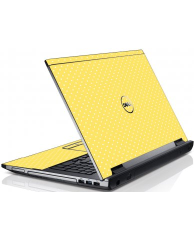 Yellow Polka Dot Dell V3550 Laptop Skin