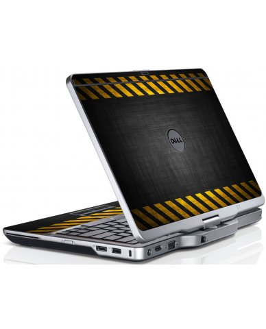 Black Caution Border Dell XT3 Laptop Skin